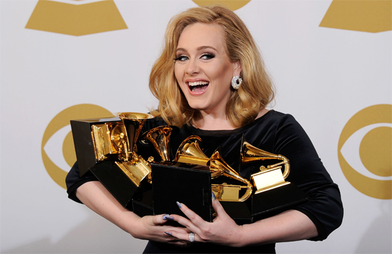 Adele at the Grammy Awards 2014
