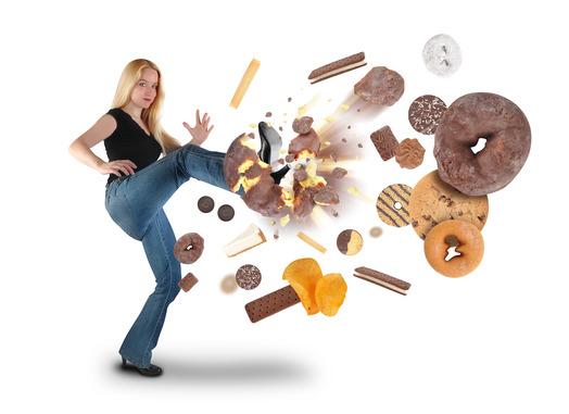 kicking food