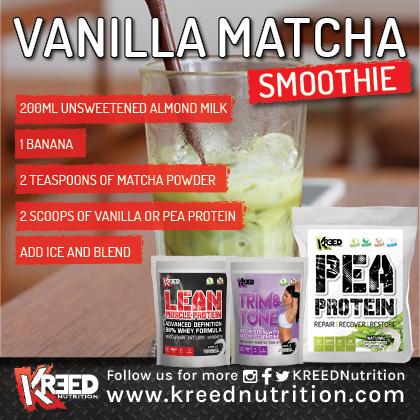 Matcha Recipe KREED Pea Protein